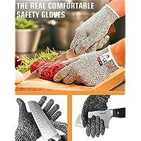 DIKETE® Guanti Anti Taglio Guanti Resistente al Taglio - Protezione di Livello 5 ad Alte Prestazioni, Grado Alimentare, Certificato EN 388, 1 paio (M,1 paio)