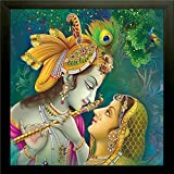#4: SAF Radha Krishna Painting || Radha Krishnaa painting || Radha Krishna poster || Radha Krishna wall stickers || SAF exclusive Framed Wall Art Paintings for Living room and Bedroom. Frame size (12 inch x 12 inch, (Wood, 30 cm x 3 cm x 30 cm, Special Effect Textured, SAA6137)