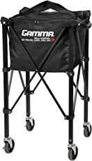 Gamma Sports Premium Tennis Teaching and Travel Carts and Baskets - EZ Travel Ball Carriers, Heavy Duty Designs, Ideal Training Court Accessories