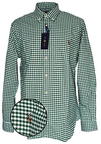 Ralph Lauren Polo Green/White Herren Hemd Button Down Größe L