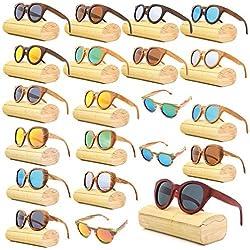 Wayfarer Damen Bambus Vollholz Sonnenbrille Fashion Unisex #109