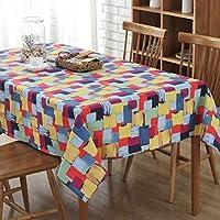 TAO Nappe Rectangulaire de polyester d'impression de graffiti essuyer propre résistant aux taches résistant à l'usure pour la table basse de salon de dîner (Couleur : 140*180CM)