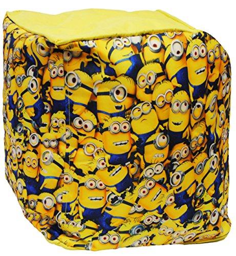 """Sitzsack / Hocker - """" Minions - Ich einfach unverbesserlich """" - wasserfest - Kissen - Sitzkissen - Polsterhocker - kleines Sofa - Sessel / Kinderstuhl - Gelb - Kindermöbel für Mädchen & Jungen - Garten - Outdoor & Innen - Couch / Stoff - Stuhl Stühle / Kinderzimmer - Minion / Mark Dave Stuart Bob Kevin - Despicable Me - Kinder / Sofa - Sack - Sitzsäcke / Kindermöbel"""