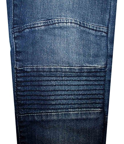 Nouvelles Mens Loyality & Faith motards Look Denim Skinny Fit Jeans Stretch Denim Pants Stone Wash