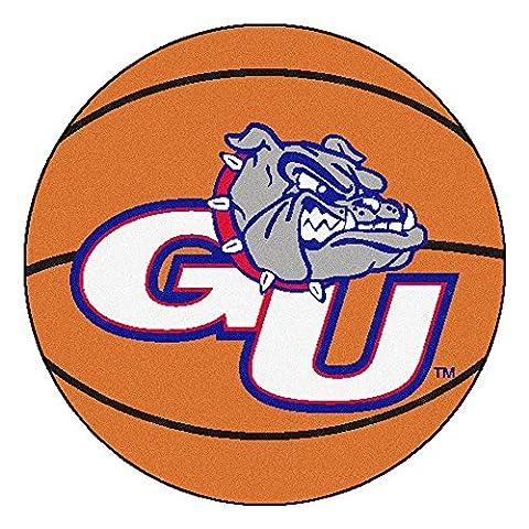 Basketball & Bull Dog Rug w Gonzaga University Colors