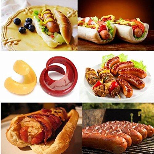 Bazaar 2pcs Spiral Hot Dog Cutter Schneidemaschinen Fancy Wurstschneider Slicer Kitchen Gadget