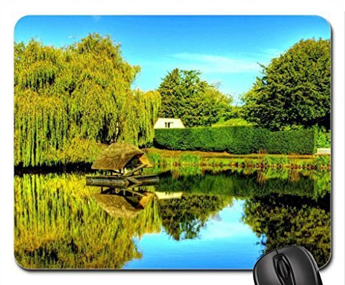 bird-coop-on-a-duck-pond-mouse-pad-mousepad-lakes-mouse-pad