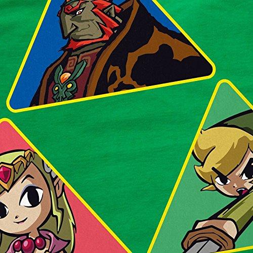 CottonCloud Triforce Link Herren T-Shirt Gamer Hyrule Grün