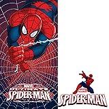 Unbekannt Faro Kinder Duschtuch Badetuch 70x140 367 Spiderman, Baumwolle, Mehrfarbig, 140 x 70 cm,