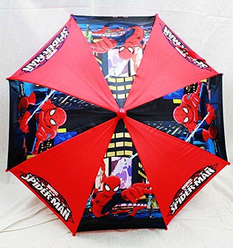 regenschirm-marvel-spiderman-rot-schwarz-figur-griff-kids-new-geschenk-toys-spu469