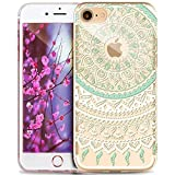 "ikasus - Carcasa de gel de silicona (TPU) transparente para Apple iPhone 6S / 6 de 4,7"", ultrafina, absorción de impactos, diseño de mandala india., iPhone 6S case"