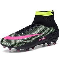 LIANNAO Men's Football Boots Boy's Soccer High-Top Spikes Soccer Football Shoes Kids Soccer Boots Cleats Outdoor…