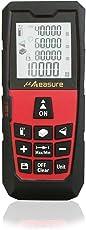 ? Measure Digital Laser Meter MS-40A Rangefinder Range Finder Tape Measure Area/volume Tool 40m 120-ft Single / Continuous Measure m/in/ft Red