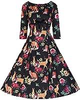Weinlese Woodland Swing-Kleid