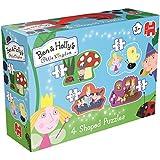 Ben & Holly's Little Kingdom 4in1 Shaped Puzzle 3pieza(s) - Rompecabezas (Shape puzzle, Dibujos, Preescolar, 3 año(s), Niño/niña, Cartón)