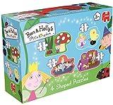 Jumbo Ben & Holly's Little Kingdom 4in1 Shaped Puzzle - Rompecabezas (Rompecabezas de Figuras, Dibujos, Preescolar, Niño/niña, 3 año(s), Cartón)