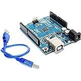 RoboCraze UNO R3 SMD Board compatible with Arduino | Development Board with USB cable