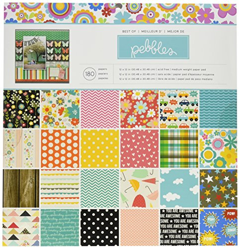 American Crafts 732370Papier Pebbles Pad 12Zoll x 12Zoll 180kg -