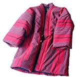 G-LIKE Japanese Kimono Dress Cardigan - Winter Harajuku Ancient Style Quilted Jacket Clothing Robe Costume Bathrobe Sleepwear Puffer For Women Men Girls (Red)