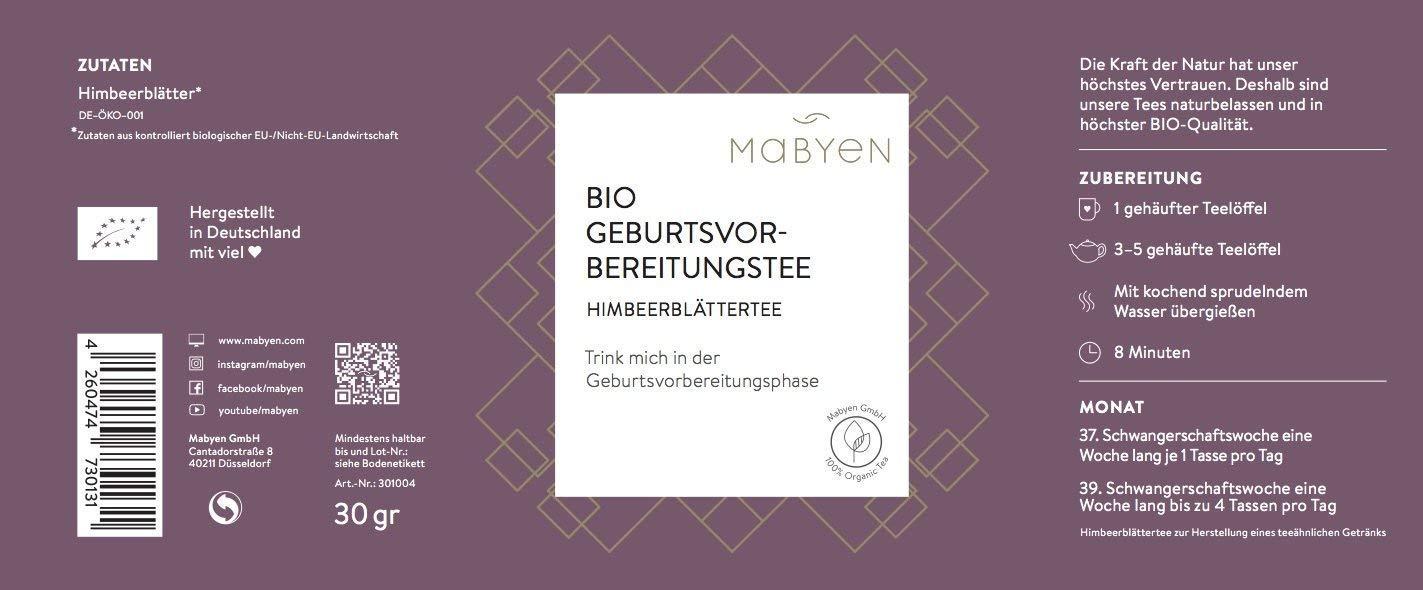 Mabyen-Bio-Himbeerblttertee-Geburtsvorbereitungstee-Bekannt-ausDie-Hhle-Der-Lwen-Tee-Schwangerschaft-Zwei-Schwangerschaftswochen-Vor-Geburt