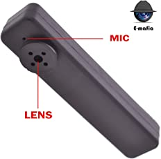 E-Mafia Shirt Button Spy Camera with 32GB Inbuilt Memory for Hidden Recording Device