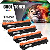 4 Pack Cool Toner Kompatibel TN 241 TN-241 Toner Brother Drucker für Brother DCP-9022CDW DCP-9017CDW MFC-9342CDW 9332CDW HL-3140CW Multifunktionsgerät Farblaser Brother Toner DCP 9022CDW