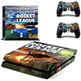 Rocket League-Designer Skin for Sony PlayStation 4 Console System plus Two(2) Decals for: PS4 Dualshock Controller by Bestlovelin