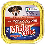 Miglior Cane - Alimento Per Cani, Con Manzo E Cuore - 22 pezzi da 150 g [3300 g]
