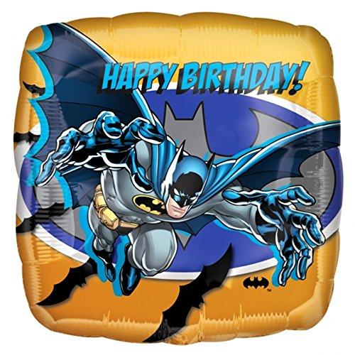 18 Batman Foil Balloon Party Decoration Justice League Superhero Kids Boys Blue Gold Birthday Gift by Warner Bros.