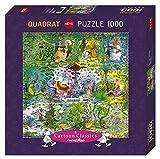 HEYE 29799 - Wildlife Square Puzzle, Guillermo Mordillo, 1000 Teile
