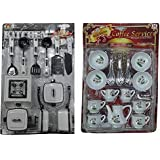 Birthday Return Gift - 22 Peices Kids Kitchen Set For Girls With Cup Sets ( Gift Packing )
