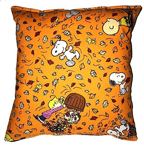 Snoopy Peanuts hinterlässt Ernte Herbst Kissen Herbsternte Halloween, Thanksgiving Handmade in USA neues Kissen ist ungefähr 25,4 cm x 27,94 cm ()