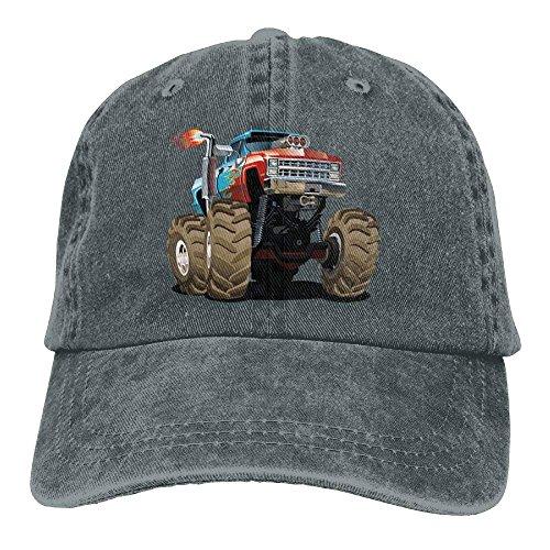 VTXWL Monster Truck Fired Denim Hat Adjustable Male Surf Baseball Hat