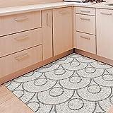 HKKIJIN Marmor-Stil Dekoration Boden Aufkleber Schlafzimmer Badezimmer Küche Wasserdicht Rutschfest Abnehmbar Waschbar PVC