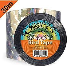 Holográfico pájaro Scare cinta, Ahuyentador Repelente de Aves cinta de doble lado láser pájaro Scare 2 pulgadas x 30m repelente de aves