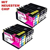 N.T.T. 10x Tintenpatronen kompatibel zu HP950 HP 951XL HP-950 HP-951 ( 4 Schwarz, 2 Cyan, 2 Magenta, 2 Yellow ) Multipack kompatibel zu HP OfficeJet Pro 8600, 8610, 8620, 8630, 8640, 8660, 8615, 8625, 8100, 251dw, 271dw Druckerpatronen kompatibel zu HP-950-XL  HP-951-XL
