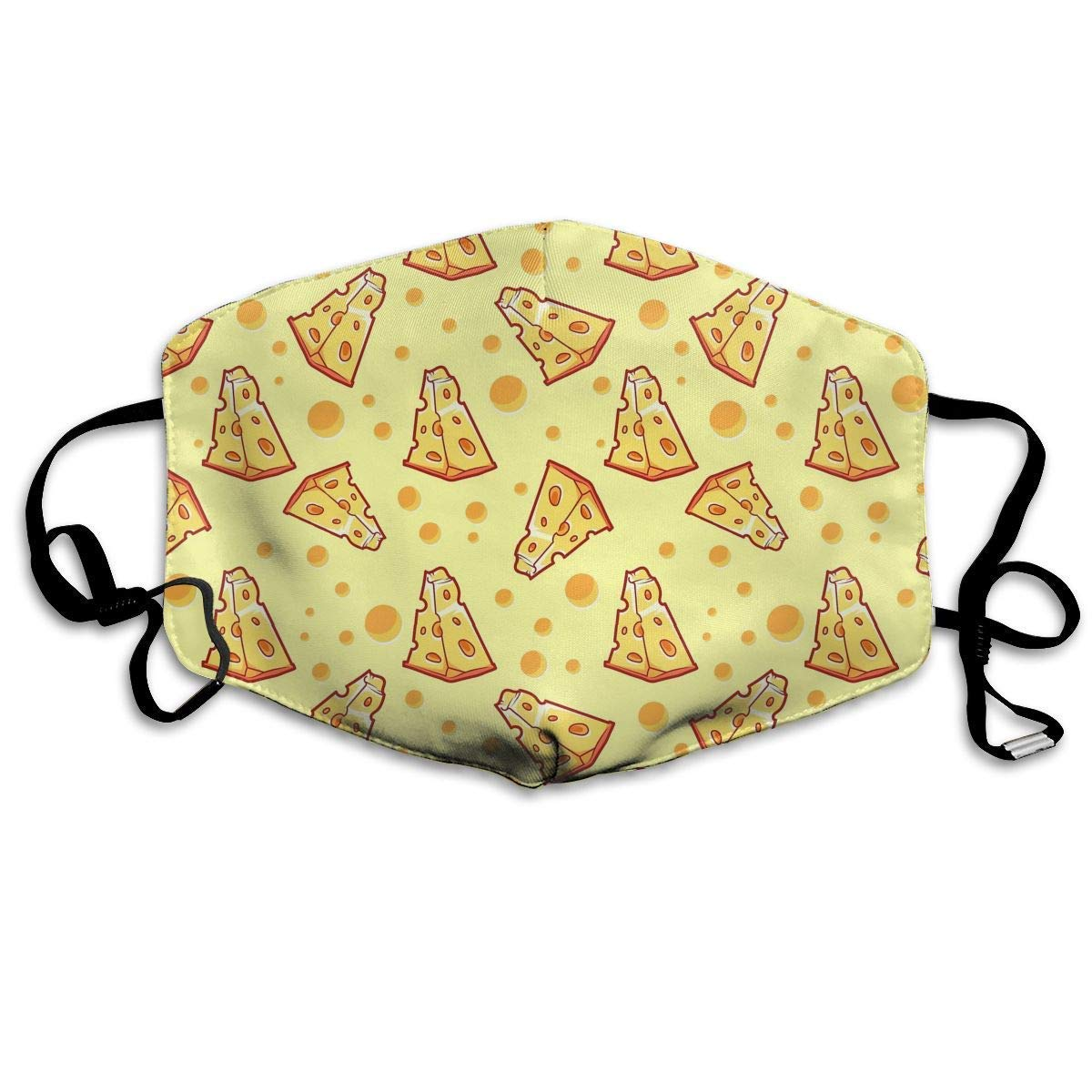 Vbnbvn Boca Máscara,Mascarillas,Máscaras bucales,Dustproof Anti- Washable Reusable Pizza Cheese Mouth Cover Mask Respirator Germ Protective Breath Healthy Safety Warm Windproof Mask