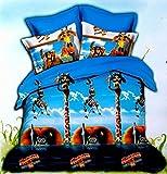 MADAGASCAR 2 Kids Cotton Bedsheet with 2...