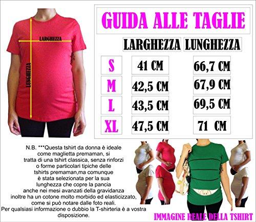 Tshirt lunga da donna ideale per il premaman con nome femminuccia Sorpresa Gaia in arrivo - tshirt simpatiche e divertenti - humor Verde