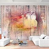 Papel Pintado Fotográfico Apariencia de madera del paisaje 308 x 220 cm Tipo Fleece no-trenzado Salón Dormitorio Despacho Pasillo Decoración murales decoración de paredes moderna - 100% FABRICADO EN ALEMANIA - 9112010c