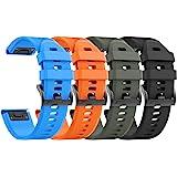 NotoCity Compatibel met armband Fenix 5/5 Plus/Instinct/Forerunner 935/945/Approach S60/Quatix 5 Easy Fit 22 mm siliconen hor