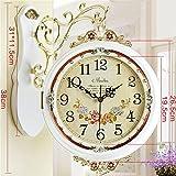 HOME UK- Orologio da parete a due lati antiquariato in stile americano americano ( Colore : Marrone ) - Orologio da parete a doppia faccia - amazon.it
