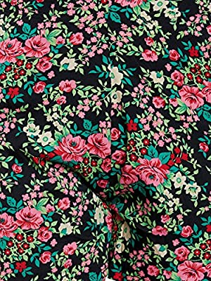 LE BOURGEOIS Women's Floral Print Polyester Shorts