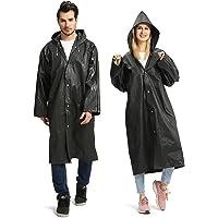Opret Raincoats for Adults, Reusable Waterproof Rain Poncho Emergency Rain Coat with Hood and Sleeves, Lightweight EVA…