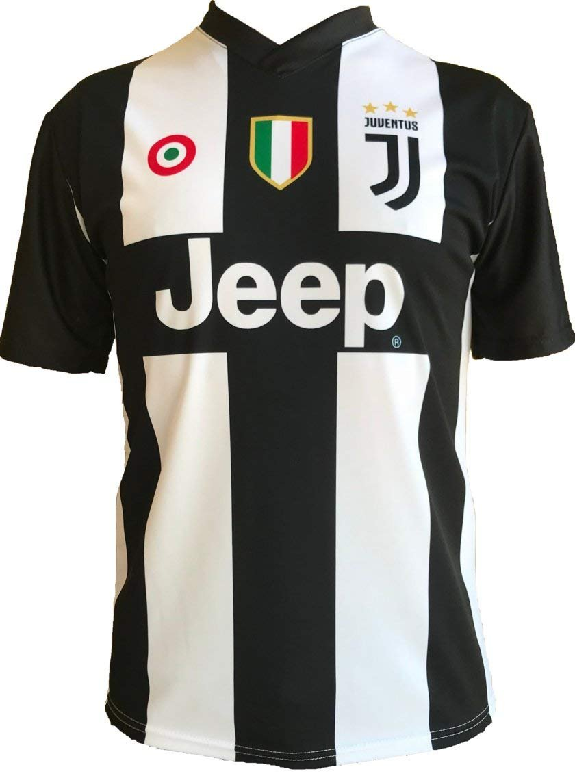 outlet store sale bb3e8 7f2ce Soccer Football T-Shirt CRISTIANO RONALDO 7 CR7 Juventus Jersey HOME Season  2018-2019 Official REPLICA with LICENSE - All The Sizes BOY (2 4 6 8 10 12  ...
