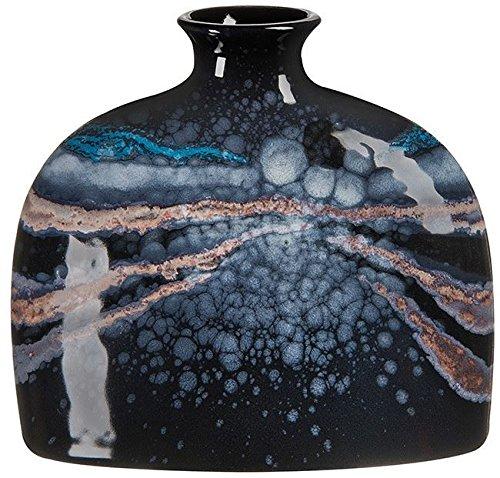 Poole Pottery Celestial Small Oval Bottle Vase 12cm & Gift Box