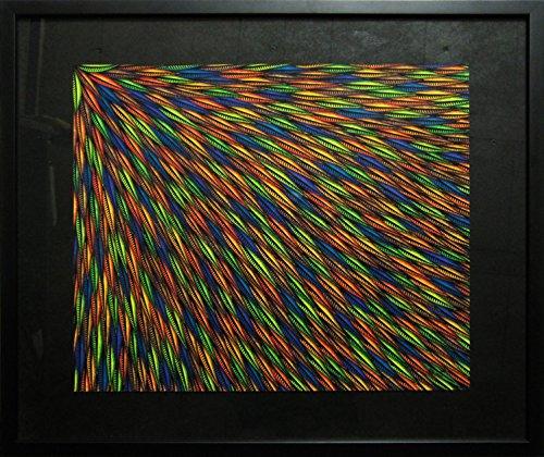 53% Leinen (Moderne malerei : Ausstrahlen (53 x 63 cm))