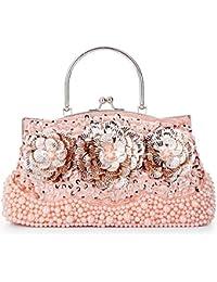 78cb20277f979 LONGBLE Damen Tasche Clutch Abendtasche Handtasche Schultertaschen  Umhängetasche Brauttasche…