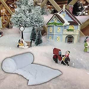 10 rouleaux de 50 m de fausse neige pour décoration de Noël en polaire affichage