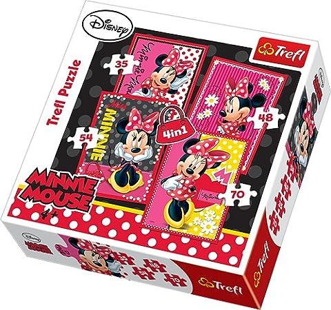 Trefl - 34119 - Puzzle - 4 en 1 - Disney Minnie - Joli Minnie